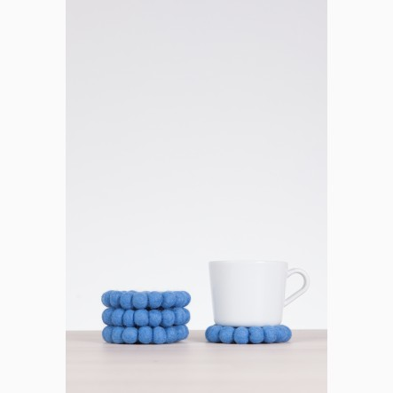 myfelt blue, round Glass Coaster, Ø 9 cm