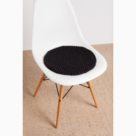 myfelt black Seat Cushion, round, Ø 36 cm
