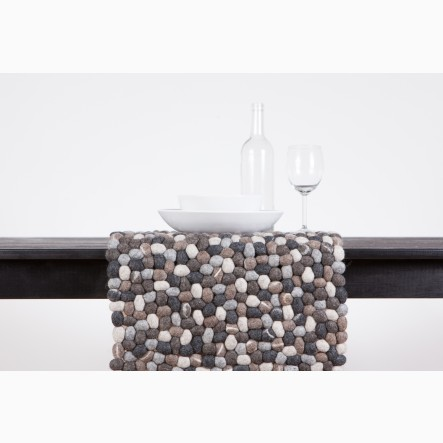 myfelt Table Runner made of felt-stones, 40 x 70 cm