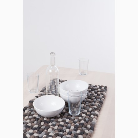 myfelt felt-stone Table Runner grey, 40 x 70 cm