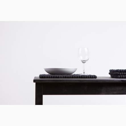 myfelt Nero Place Mat black, rectangular, 35 x 45 cm