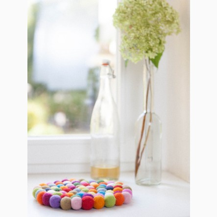 myfelt colorful Pot Coaster, round, Ø 20 cm