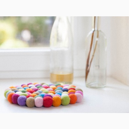 myfelt round, colorful Pot Trivet, Ø 20 cm