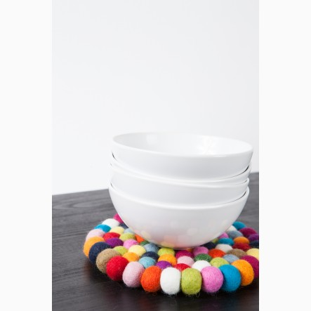 myfelt Lotte, round Pot Coaster made of colorful felt balls, Ø 20 cm