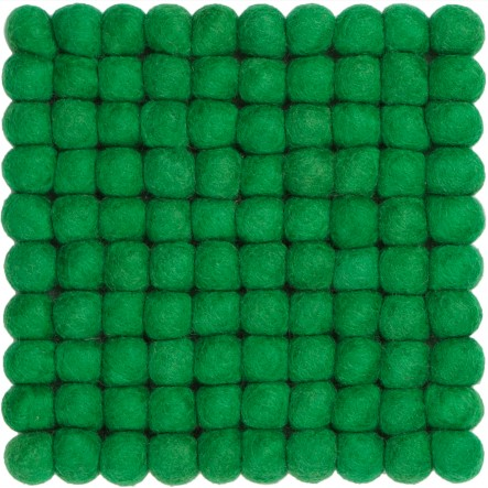 myfelt Alwin Pot Coaster, green, square, 20 x 20 cm