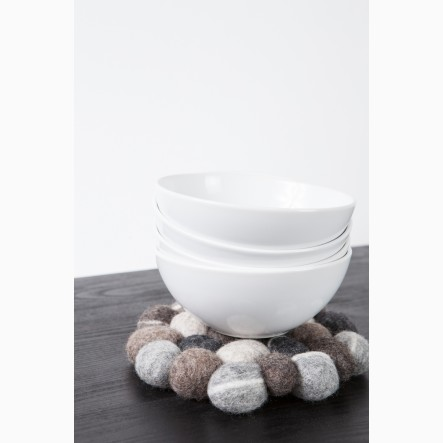 myfelt round Pot Trivet made of felt stones, Ø 20 cm