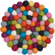 myfelt Lotte, colourful Pot Coaster, round, Ø 20 cm